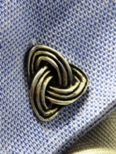 Trefoil Knot Pewter Cufflinks by St Justin